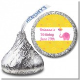 Elephant Pink - Hershey Kiss Birthday Party Sticker Labels