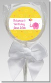 Elephant Pink - Personalized Birthday Party Lollipop Favors