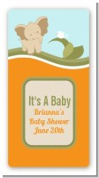 Elephant Baby Neutral - Custom Rectangle Baby Shower Sticker/Labels
