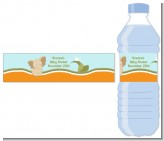 Elephant Baby Neutral - Personalized Baby Shower Water Bottle Labels