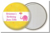 Elephant Pink - Personalized Birthday Party Pocket Mirror Favors