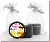 Emoji Fun - Birthday Party Black Candle Tin Favors
