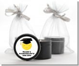 Emoji Graduate - Graduation Party Black Candle Tin Favors