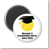Emoji Graduate - Personalized Graduation Party Magnet Favors