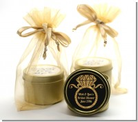 Engagement Ring Black Gold Glitter - Bridal Shower Gold Tin Candle Favors