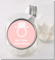 Engagement Ring - Personalized Bridal Shower Candy Jar