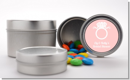 Engagement Ring - Custom Bridal Shower Favor Tins