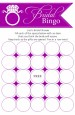 Engagement Ring Dark Purple - Bridal Shower Gift Bingo Game Card thumbnail