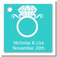 Engagement Ring - Personalized Bridal Shower Card Stock Favor Tags thumbnail