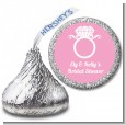 Engagement Ring - Hershey Kiss Bridal Shower Sticker Labels thumbnail