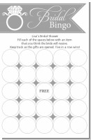 Engagement Ring Light Grey - Bridal Shower Gift Bingo Game Card