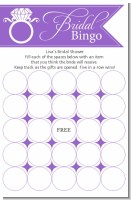 Engagement Ring Orchid - Bridal Shower Gift Bingo Game Card