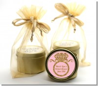 Engagement Ring Pink Gold Glitter - Bridal Shower Gold Tin Candle Favors