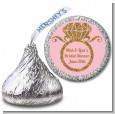 Engagement Ring Pink Gold Glitter - Hershey Kiss Bridal Shower Sticker Labels thumbnail