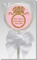 Engagement Ring Pink Gold Glitter - Personalized Bridal Shower Lollipop Favors