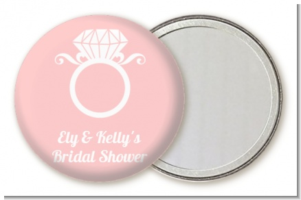 Engagement Ring - Personalized Bridal Shower Pocket Mirror Favors