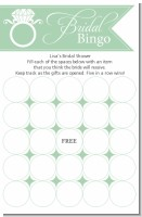 Engagement Ring Sea Foam - Bridal Shower Gift Bingo Game Card