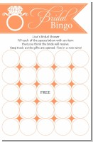 Engagement Ring Sherbert - Bridal Shower Gift Bingo Game Card