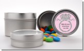 Engagement Ring Silver Glitter - Custom Bridal Shower Favor Tins