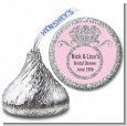 Engagement Ring Silver Glitter - Hershey Kiss Bridal Shower Sticker Labels thumbnail