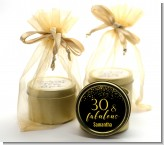 30 & Fabulous Speckles - Birthday Party Gold Tin Candle Favors