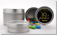 30 & Fabulous Speckles - Custom Birthday Party Favor Tins