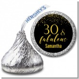 30 & Fabulous Speckles - Hershey Kiss Birthday Party Sticker Labels