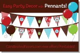 Hot Cocoa Party - Christmas Themed Pennant Set