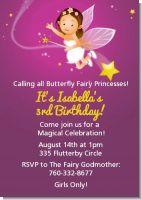 Fairy Princess - Birthday Party Invitations