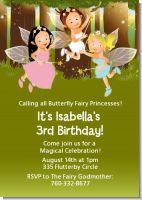 Fairy Princess Friends - Birthday Party Invitations