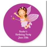 Fairy Princess - Round Personalized Birthday Party Sticker Labels