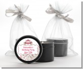Fairy Tale Princess Carriage - Birthday Party Black Candle Tin Favors