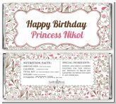 Fairy Tale Princess Carriage - Personalized Birthday Party Candy Bar Wrappers
