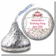 Fairy Tale Princess Carriage - Hershey Kiss Birthday Party Sticker Labels thumbnail