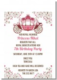 Fairy Tale Princess Carriage - Birthday Party Petite Invitations