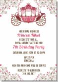 Fairy Tale Princess Carriage - Birthday Party Invitations