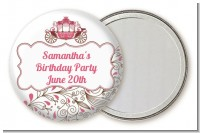 Fairy Tale Princess Carriage - Personalized Birthday Party Pocket Mirror Favors