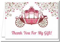 Fairy Tale Princess Carriage - Birthday Party Thank You Cards