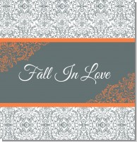 Grey & Orange Bridal Theme