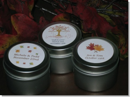 Candle Tin Fall Bridal Favors - Fall Wedding Favors