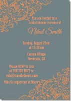 Grey & Orange - Bridal Shower Invitations