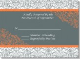 Grey & Orange - Bridal Shower Response Cards