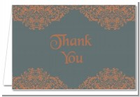Grey & Orange - Bridal | Wedding Thank You Cards