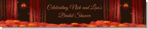 Fall Love Birds - Personalized Bridal Shower Banners