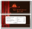 Fall Love Birds - Personalized Bridal Shower Candy Bar Wrappers thumbnail