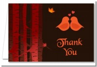 Fall Love Birds - Bridal | Wedding Thank You Cards