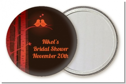 Fall Love Birds - Personalized Bridal Shower Pocket Mirror Favors