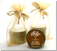 Fall Tree - Bridal Shower Gold Tin Candle Favors