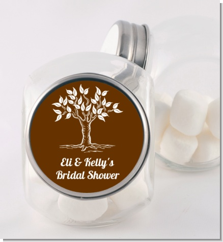 Fall Tree - Personalized Bridal Shower Candy Jar