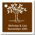 Fall Tree - Personalized Bridal Shower Card Stock Favor Tags thumbnail